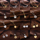 Charm Necklace Pendant Earring Jewelry Paw Print Heartbeat Pet Dog Cat Memorial