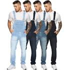 "New Enzo Jeans Mens Denim Stonewash Blue Dungarees Dungaree Overalls 30"" - 50"""