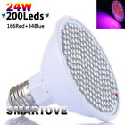 hydroponics grow lights - New 24W LED Grow Light E27 Lamp Bulb for Plant Hydroponic Full Spectrum