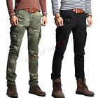 skinny combat trousers - Mens Worker Pants Packet Skinny Combat Cotton Slim  Cargo Military Trousers Cz8