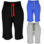 New Mens Plain Lightweight Jersey Shorts Gym Baggy Zip Pockets Shorts Lot S-5XL