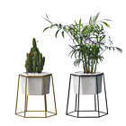 Geometric Succulent Plant Iron Ceramic Flower Pot Vase Set Container Home Decor