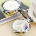 1/3pcs 3 Slots Round Pill Box Metal Medicine Organizer Container Case For Health