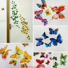 12PC 3D Butterfly Wall Stickers Living Room Mural Decal Home Art Decor DIY