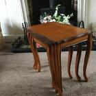 BEAUTIFUL QUALITY NEST OF THREE YEW TABLES