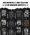 Motorcycle T Shirt Harley Davidson Gasoline Garage Biker Motorbike Indian Motor $13.48 CAD on eBay