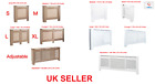 White/Natural Painted Wood Radiator Heater Cover Case Cabinet Grill Protector UK