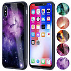 For Apple iPhone X Shockproof Bumper Tempered Glass Back Cover Paint Hybird Case