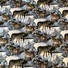 NUTEX FABRIC - 100% Cotton - Silver Shadows (Wolves) (38990-104)