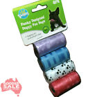 60 180 300 or 600 Dog Puppy Cat poo poop litter waste disposable refill bags #R