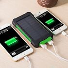 50000mah Solar Power Bank 2 LED 2 USB Waterproof Battery Charger for Cell Phone