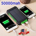50000mah Solar Power Bank 2 LED 2 USB Waterproof Battery Charger for Room Phone
