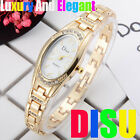 Fashion Womens Ladies Watches Crystal Stainless Steel Analog Quartz Wrist Watch image
