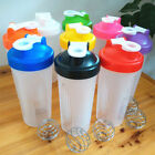 Durable 600ml BPAfree Protein Blender Shaker Mixer Cup Drink Whisk Bottle ca