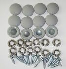 12 Dura Snap Upholstery Buttons Platinum Gray Choice Of Size And Screws