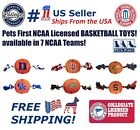 NCAA Basketball Toy for DOGS & CATS - Licensed, Heavy-duty Ropes, with SQUEAKERS