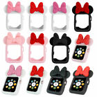 Lovely Minnie Mouse Ears Silicone Protective Case Cover for Apple Watch iWatch