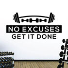 No Excuses. Get it Done - Gym Motivational Quote Wall Art Sticker