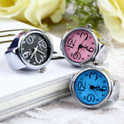 Women Men Dial Quartz Analog Finger Watch Creative Steel Cool Ring Elastic Watch image