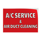 A/C Service & Air Duct Cleaning Indoor Store Sign Vinyl Decal Sticker