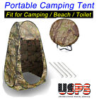 Pop Up Tent Dressing Changing Room Toilet Shower Beach Camping Tent + Window