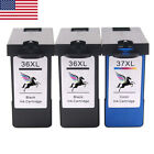 1-4Pk Lexmark 36XL 37XL BLACK&COLOR HY Ink Cartridge for X3650 X4650 X5650 36 37