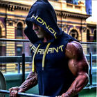 US Mens Muscle Hoodie Tank Top Bodybuilding Gym Workout Sleeveless Vest T-shirt