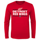 NHL Detroit Red Wings Long Sleeve Cotton T Shirt Top Youth Kids Fanatics $16.71 USD on eBay