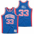 NBA Detroit Pistons Grant Hill Hardwood Classics Road Swingman Jersey Shirt Top on eBay