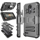 For LG Rebel 3 LTE/Risio 3/K8 2018/Fortune 2/Zone 4 Belt Swivel Clip Phone Case
