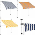 150/200/250/300/350/400 Width Manual Retractable Awning Fabric Steel Frame Home