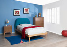 NEW Kids Wooden&Polyester Fabric Single King Single Double Bed Frame bedroom