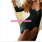 New Women Sexy Half Sleeve Slim Solid Open fork O-Neck Club Bodycon Dress