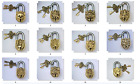 Unusual attractive Brass made hand crafted PADLOCK + 2 lovely keys from India