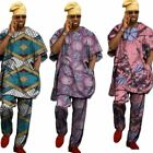 African Traditional Costume Shirt Men Dashiki Clothes Fashion Male Short