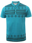 New Mens D-Code Brookland Short Sleeve Printed Cotton Polo Shirt Top Size S-L