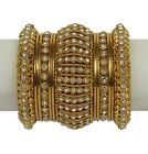 84 Indian Ethnic Bangles Jewelry Bollywood Bridal Gold Plated Antique Design Set