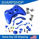 Replacement Controller Case Shell for Xbox 360 Wireless Chrome Buttons Screws