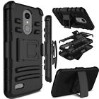 For LG Aristo 3/2 Plus/Tribute Empire Phone Case Hybrid Stand Armor Clip Cover