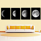 4Pcs Canvas Prints Wall Art Painting Pictures Home Office Decor Abstract Moon