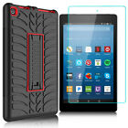 For Amazon Kindle Fire HD 8 2017 Shockproof Heavy Duty TPU Case+Screen Protector