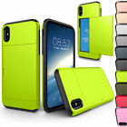 Credit Card Holder Wallet Cases For Apple iPhone 10 X 8 7 6 6s Plus 5S SE 4S 4G