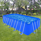 Rectangular Garden Swimming Pool Steel Frame Above Ground Large Durable 3 Sizes