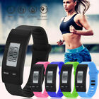 Womens Mens Activity Tracker Watch Bracelet Pedometer Digital LCD Sports Watch image