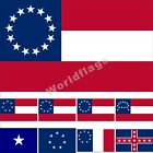 CSA Flag 3X5FT Southern States Bonnie Blue Army Polks Corps 1861 National Banner