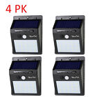 20 LED Solar Lights Motion Sensor Wall Light Outdoor Waterproof Garden Yard Lamp