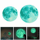 30cm 3d Large Moon Glow In The Dark  Wall Sticker Removable Decal Art Decor