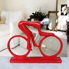Art Deco Sculpture Abstract Bicycle Rider Resin Statue Bike Racing Figurines