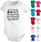 I'm the Boss My way Funny Kids T shirt Youth tee Baby Toddler bodysuit KP69