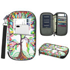 Family Travel Wallet Passport Holder RFID Blocking Document Organizer Bag Case